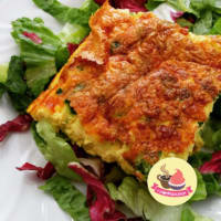 Baked omelette with vegetables