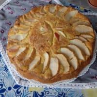 Torta di mele, ricotta e arance