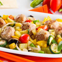 Ratatouille con polpettine