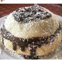 Pastel con harina de arroz