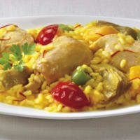 Paella speciale con pollo