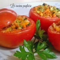 Tomates rellenos con verduras