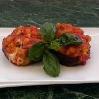Eggplant stuffed pasta