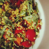 quinoa salad and lentils
