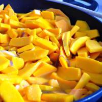Penne con zucca e pomodori secchi step 1