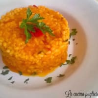 The risotto with peppers