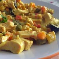pechuga de pavo con verduras con la cúrcuma