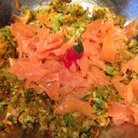 Ensalada de arroz con salmón paso 3