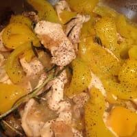 Straccetti di pollo al limone con peperoni step 5