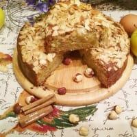 Tarta de manzana con almendras y trigo sarraceno