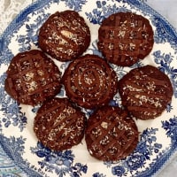 Galletas de chocolate vegetariana y coco