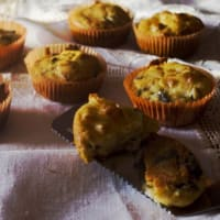 Muffin with savory eggplant and scamorza