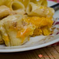 Baked pasta with pumpkin and sauce