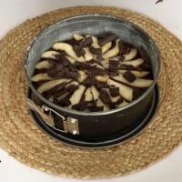 chocolate y torta de pera paso 2