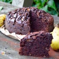 chocolate y torta de pera paso 3