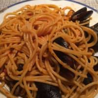 Linguini con mariscos