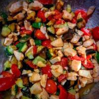 verduras en cuscús y salmón paso 6