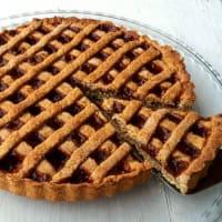 Crostata integrale con marmellata alle fragoline di bosco