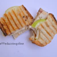 Sandwich with grilled chicken and crunchy green apple