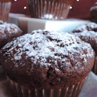 Muffin with chocolate and white chocolate step 3