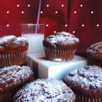 Muffin with chocolate and white chocolate step 4