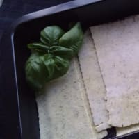 vegetarian green Lasagne gluten-free and without milk step 1