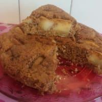 pastel de manzana y harina de espelta
