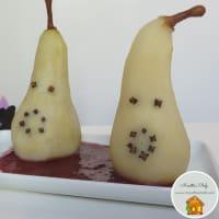 Fantasmini di pera su pozza di sangue di ciliegie
