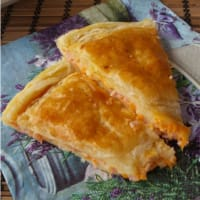 Donut pastry with pumpkin and ham
