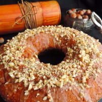 Donut mascarpone and hazelnuts