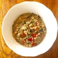 La quinoa con verduras y garbanzos