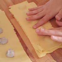 raviolis vegetariana con queso ricotta y aceitunas con tomates sin exceso paso 10
