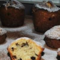 Muffin coconut and chocolate
