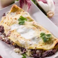 Crepes with radicchio