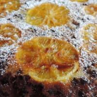 Naranja invertida torta para la Navidad paso 1