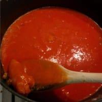 Polenta con salchichas paso 6
