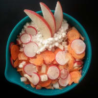 Radish salad with sweet and sour dressing