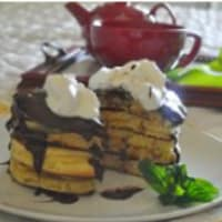 Pancakes and chocolate mint