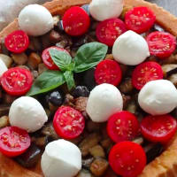 Quiche con berenjenas, tomates y mozzarella paso 8