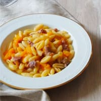 Gnocchi with pumpkin and sausage