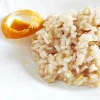risotto de naranja y jengibre