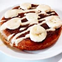 Banana pancakes and mix of nuts