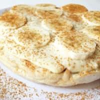 Pancake ricoperto di crema pasticcera