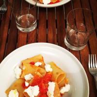 paccheri tomate y ricota