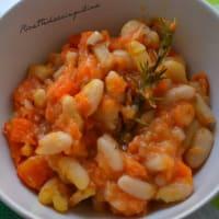 Sopa de calabaza y frijoles