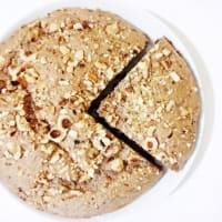 avellanas y panqueques torta de cacao