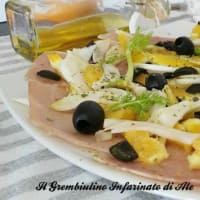 swordfish carpaccio with fennel and orange