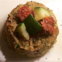 integrales gnocchi de Cerdeña con crema de calabacín y tomates secos