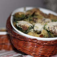 Pie baked stuffed artichokes