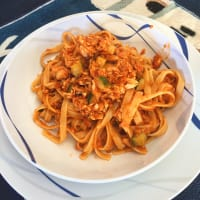 Linguine with fish sauce